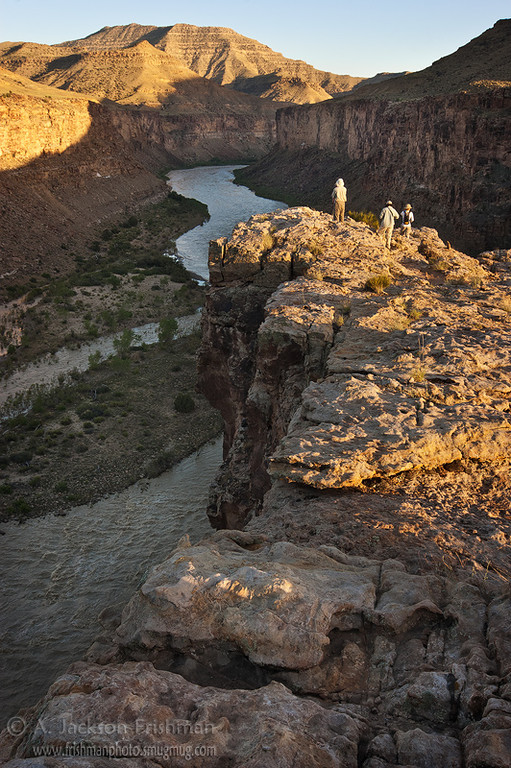 Enjoying the evening light over the Green River, Gray Canyon, Utah, June 2010.