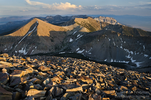The south Snake Range in Nevada's Great Basin National Park, viewed from Baker Peak